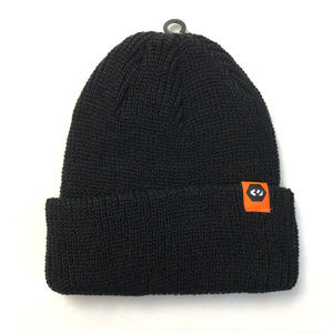 thirtytwo Basixx Beanie Hat Knitted Cuffed Black